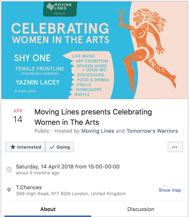Moving Lines Exhibition. 14 April 2018